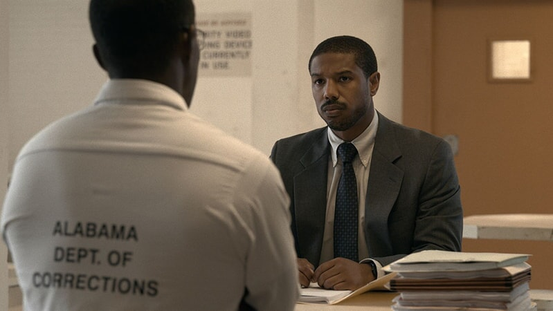 (Right Center) MICHAEL B. JORDAN as Bryan Stevenson in Warner Bros. Pictures' drama JUST MERCY.