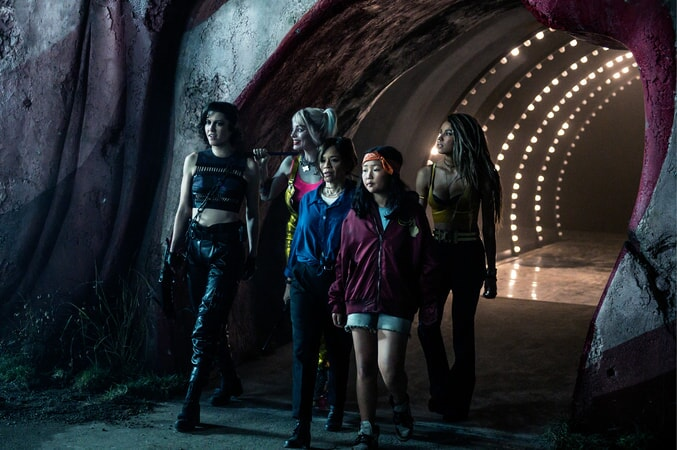 "MARY ELIZABETH WINSTEAD as Huntress, MARGOT ROBBIE as Harley Quinn, ROSIE PEREZ as Renee Montoya, ELLA JAY BASCO as Cassandra Cain and JURNEE SMOLLETT-BELL as Black Canary in Warner Bros. Pictures' ""BIRDS OF PREY (AND THE FANTABULOUS EMANCIPATION OF ONE HARLEY QUINN)."""