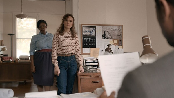 (L-r) ANDRENE WARD-HAMMOND as Brenda and BRIE LARSON as Eva Ansley in Warner Bros. Pictures' drama JUST MERCY.